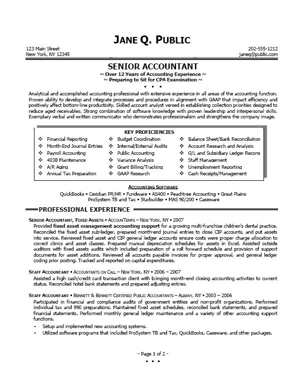 resume for accountant writing tips in resume - Professional Accounting Resume