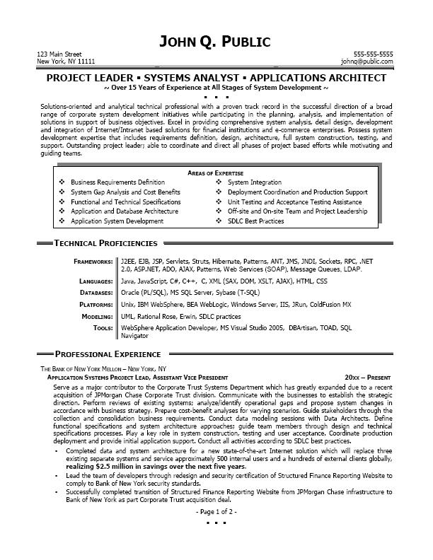 senior business analyst resume sample job resume samples
