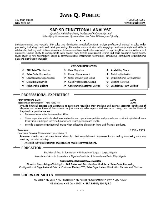sap hcm technical consultant resume sles sap crm