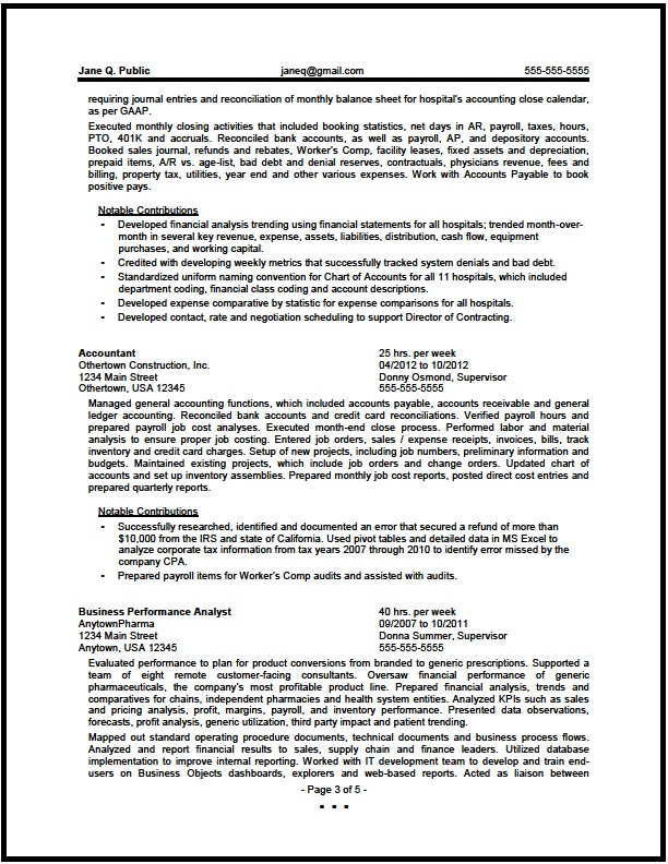 financial analyst resume pg3 - Junior Financial Analyst Resume