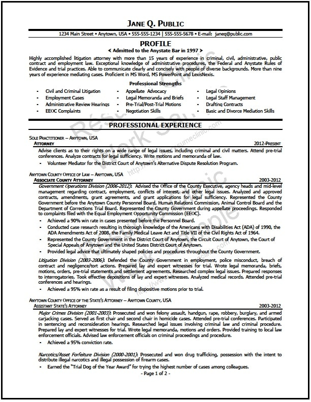 mediation attorney resume 01 - Attorney Resume Samples
